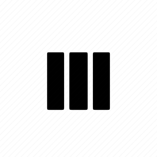 column, grid, layout, wireframe icon