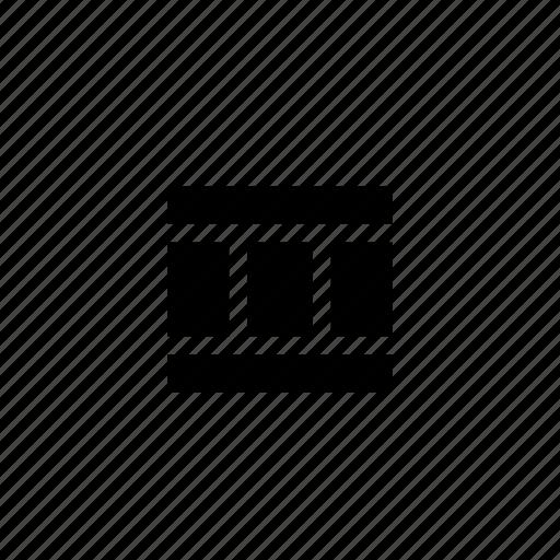 column, columns, footer, grid, header, layout, wireframe icon