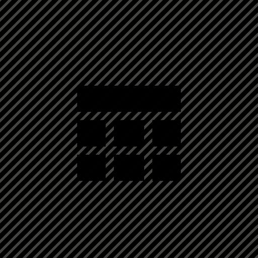 design, grid, header, layout, tiles, wireframe icon