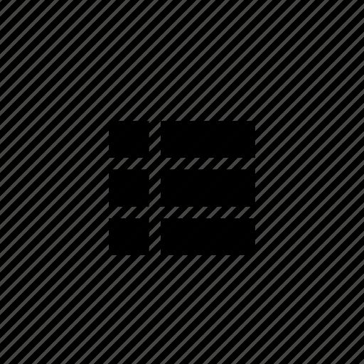 design, grid, header, layout, rows, wireframe icon