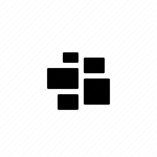 cluster, grid, layout, salon icon
