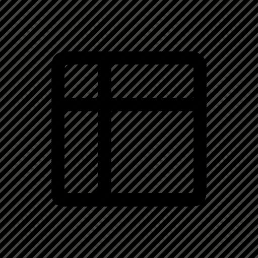 column, grid, header, row icon