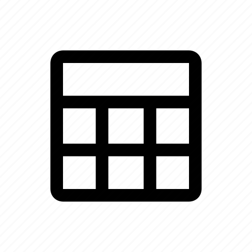 grid, header, raster icon