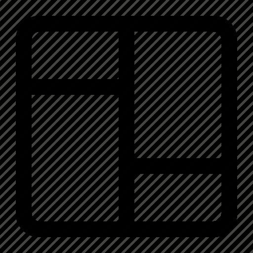 display, grid, layout, masonry icon