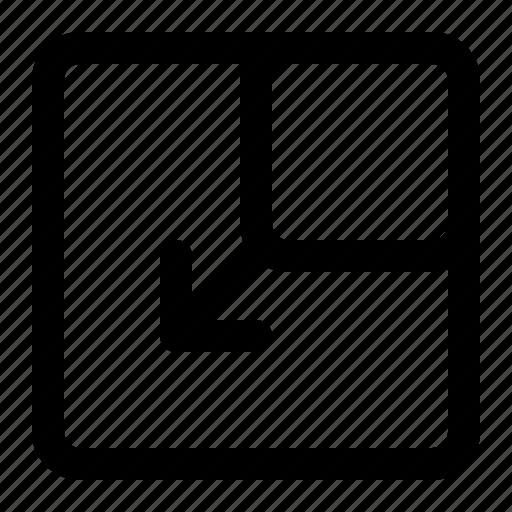 display, grid, layout, minimize icon