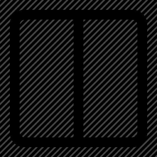 column, display, grid, layout, two column icon