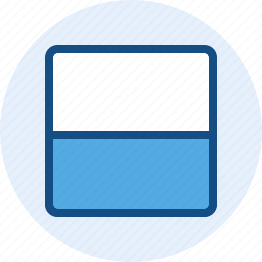 content, grid, layout, two, wireframe icon