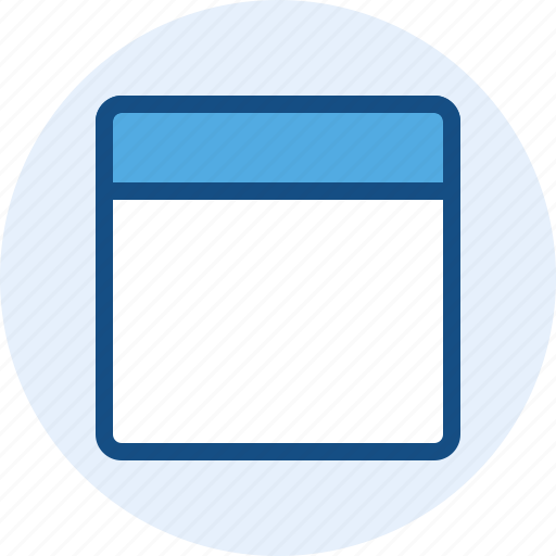 content, grid, topbar, wireframe icon