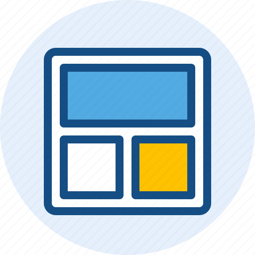 card, content, grid, stack, wireframe icon