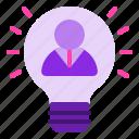 bulb, idea, innovation, innovator, inspiration icon