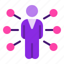 business, company, influencer, man, suit icon