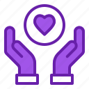 care, empathy, give, hand, love icon