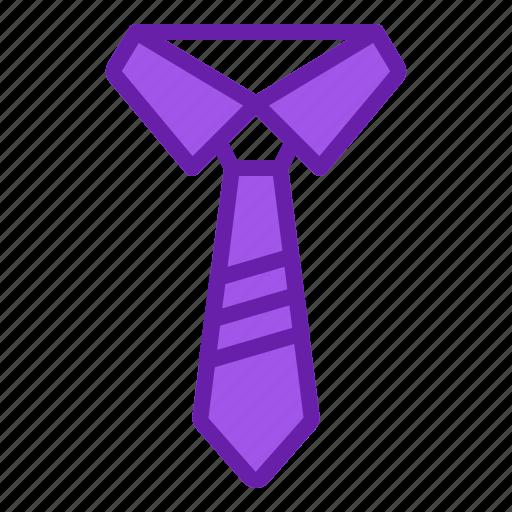 collar, man, professionality, suit, tie icon