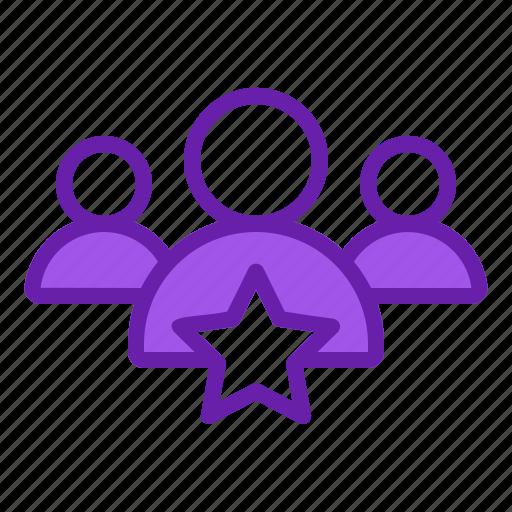 business, group, leader, star, teamwork icon