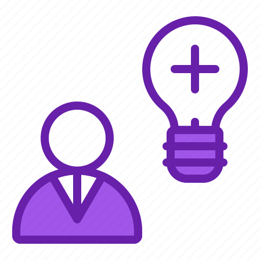 business, idea, innovation, positive, thinking icon