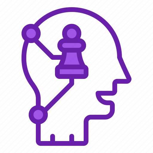 business, leader, mind, strategic, thinking icon