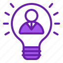 bulb, idea, innovation, innovator, inspiration icon