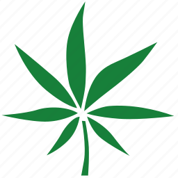 canabis, green, label, leaf icon