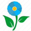flower, green, label, leaf, nature icon