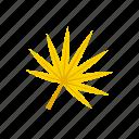 autumn, fan-shaped, leaf, yellow icon