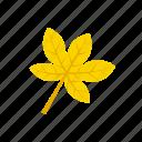 autumn, leaf, palmatifid, yellow icon