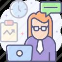 multitasking, more task, task, employee icon