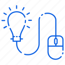 bulb, creative, design, idea, mouse icon