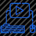 keyboard, media, mouse, technology, youtube icon