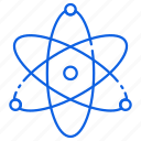 atoms, chemical, nuclear, physics, science icon