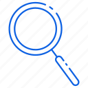 magnifier, magnifying, search, searching icon