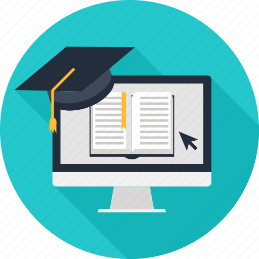 academy, e-learning, education, graduation, learning, online, science icon