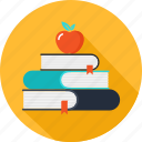 apple, books, education, learning, school, studying