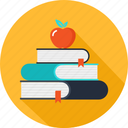 apple, books, education, learning, school, studying icon