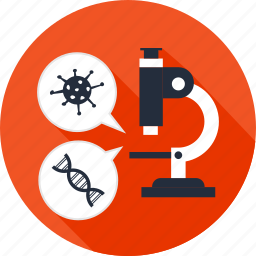 biology, dna, education, lab, laboratory, microscope, science icon