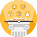 book, column, education, history, knowledge, school, science icon