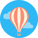 balloon, cloud, sky, traveling icon