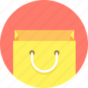 bag, shopping, smiling icon