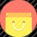 bag, smiling, shopping icon