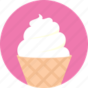 dessert, ice cream, icy, sweet icon