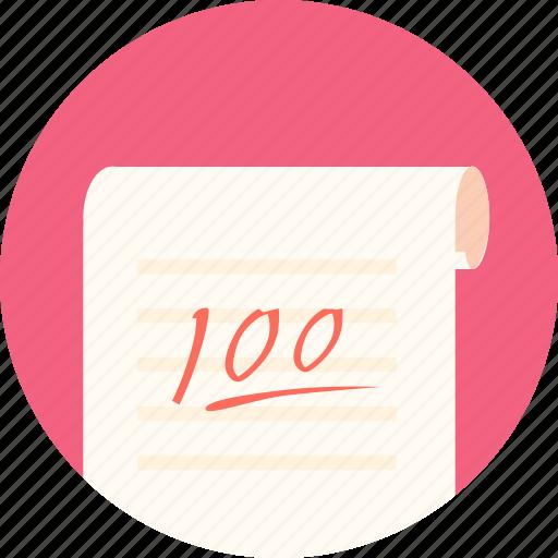 examination, full, full marks, kaoshi, papers icon