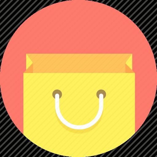 bag, shopping, smiling icon