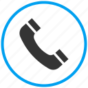call, contact, incoming call, landline phone, phone, receiver, telephone icon