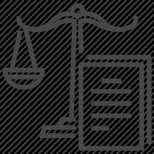 law, legal, obligations, preparation, process, subpoena, warrant icon