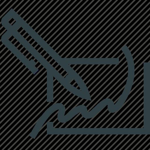 pen, signature icon