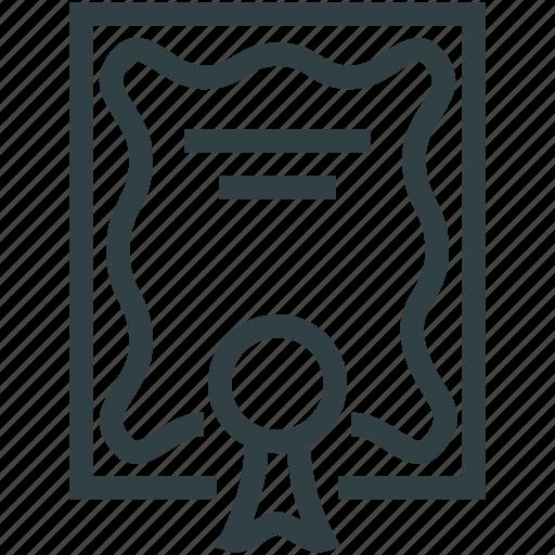 degree, diploma, document, grant icon