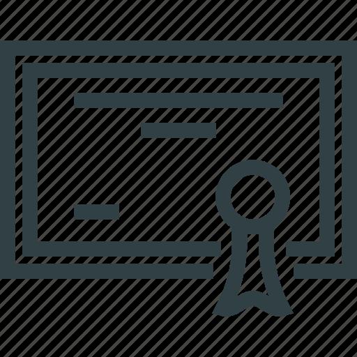 diploma, document, grant icon