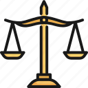 balance, judge, justice, law, lawyer, legal, scale icon