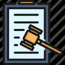 authority, hammer, judge, judgment, law, legal, verdict icon