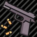 bullet, gun, handgun, pistol, protection, revolver, weapon