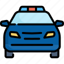 car, cop, crime, emergency, police, siren, vehicle icon